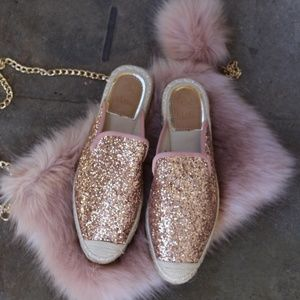 Shoes - 🆕//The Breezy// Mauve Glitter Mule/ Slide